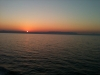 Sunrise on the  Adriatic sea