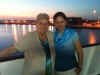 With my mother on the ferry from Italy